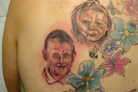 tatuagens fails de rostos dos filhos