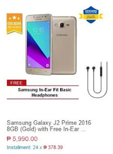samsung galaxy j2 prime exclusively with lazada