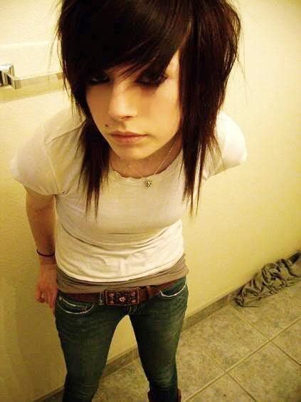 emo choppy layers with bangs front and back pictures boys hairstyle back side emo men hairstyle trendy