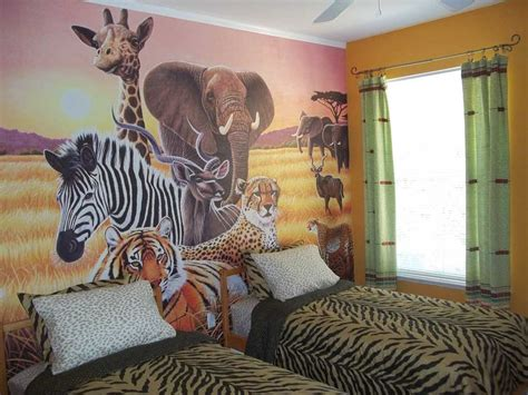 safari bedroom ideas animal themed children s bedrooms jungle and wild design