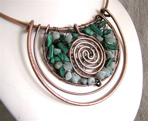 wire techniques for jewelry copper wire work jewelry by wire moon the beading gem s