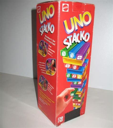 Uno Stacko Boardgame uno stacko a family friendly mattel stacking uno gaming and