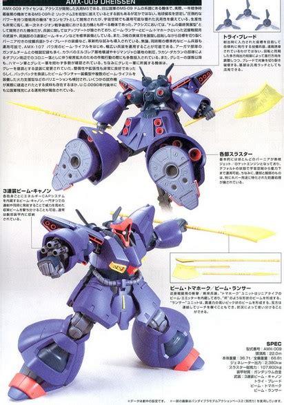 Gundam Bandai Hg Dreissen Amx 009 bandai b 189179 hguc 172 gundam zz amx 009 dreissen