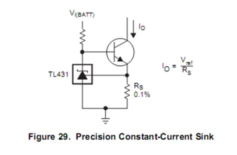 constant current diode 100ma voltage tl431 constant current source electrical engineering stack exchange