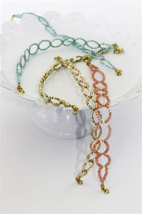 how to make seed bead bracelets diy seed bead circle bracelet hello glow