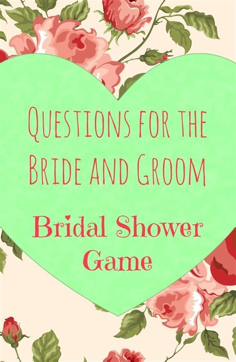 Best 25  Bridal shower questions ideas on Pinterest