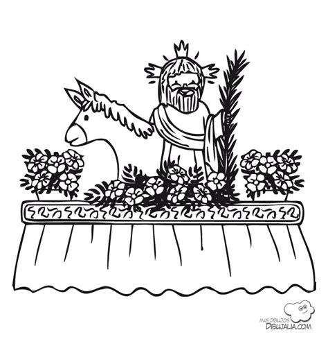 dibujos para colorear dibujos de semana santa paso de procesion 2 dibujalia dibujos para colorear
