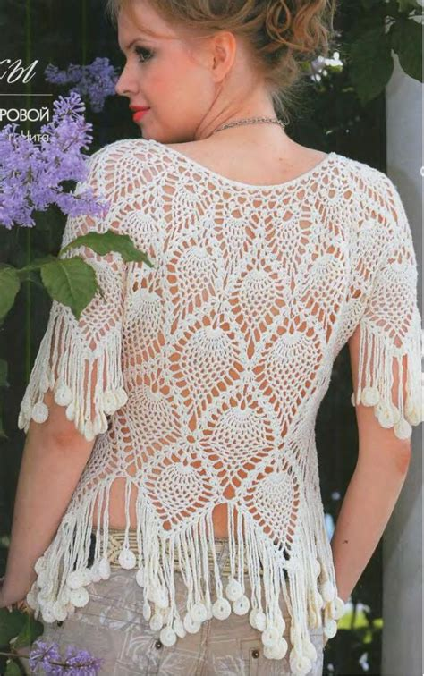 blouse pattern in pinterest blouse crochet pineapple stitch pinterest