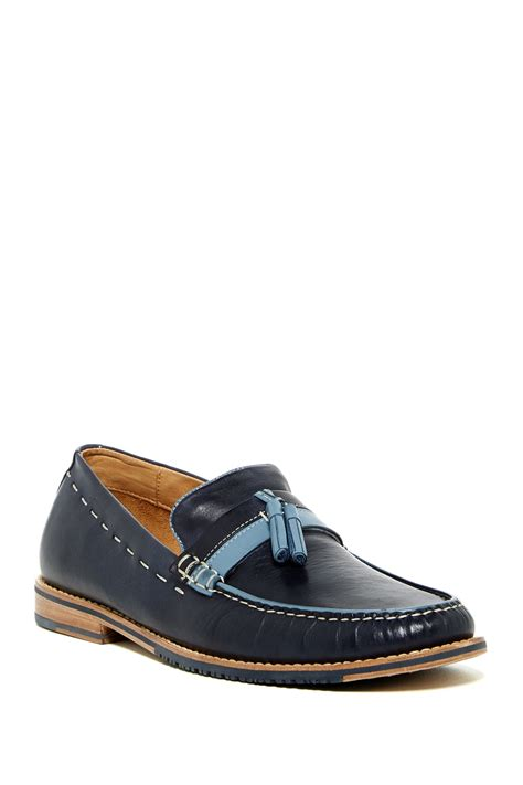 bahama loafers bahama finch tassel loafer in blue for lyst
