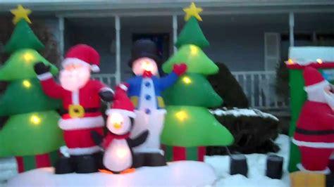 christmas inflatables display  youtube