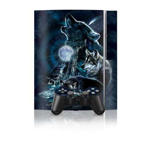 Skin Playstation 3ps3 Custom howling ps3 skin covers sony playstation 3 for custom style and protection