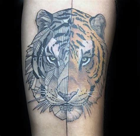tattoo geometric tiger 50 geometric tiger tattoo designs for men striped