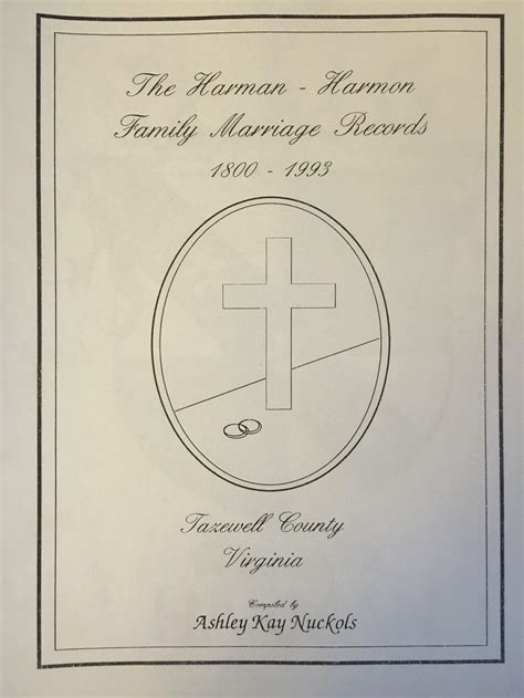 Tazewell County Marriage Records The Harman Harmon Family Marriage Records 1800 1993 Tazewell County Historical