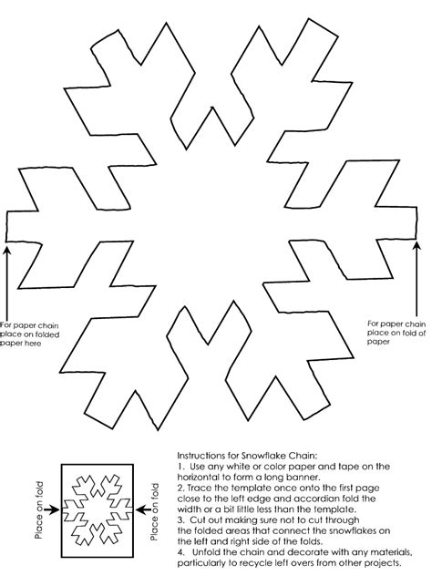 templates for snowflakes snowflake chain template