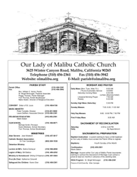 our of malibu church parish staff worship and prayer
