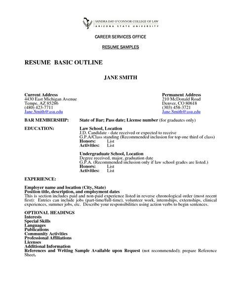 resume exle resume outline worksheet templates free resume layout resume outline template
