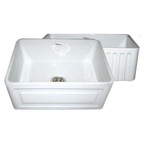 Raised Kitchen Sink Whitehaus Collection Reversible Series Raised Panel Farmhaus Series Apron Front Fireclay 24 In