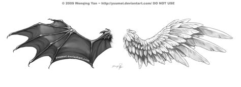 wings tattoo commission by yuumei on deviantart
