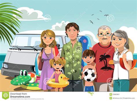 imagenes vacaciones con la familia familia el vacaciones de la playa imagen de archivo