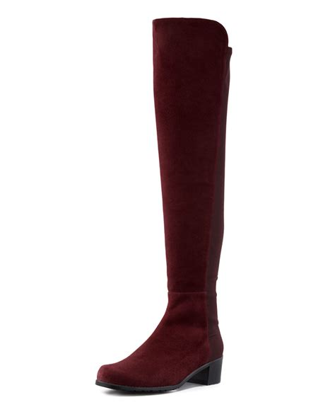 stuart weitzman 50 50 suede stretch the knee boot in
