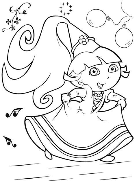 Coloriage Dora La Princesse Ancenscp Princess The Explorer Coloring Pages