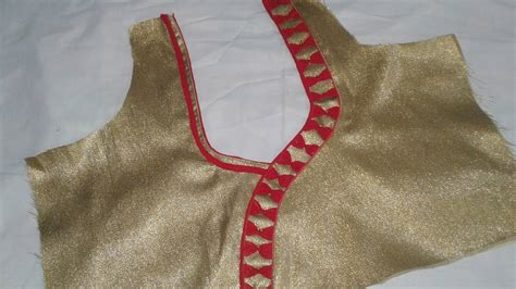 Cutting Of Saree Blouse Stitching by Saree Blouse Back Neck Designs Cutting And