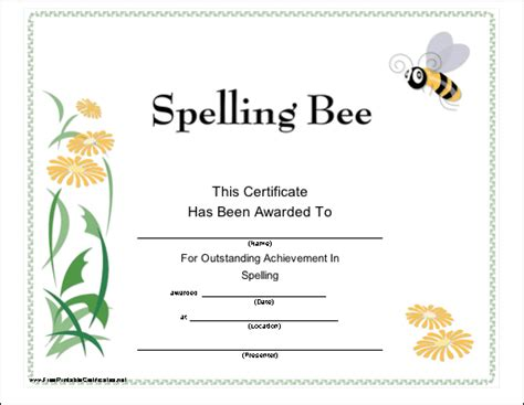 spelling bee certificate maker car interior design