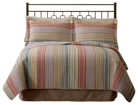 Striped Quilts And Coverlets Retro Stripe Pastel Quilt Contemporary