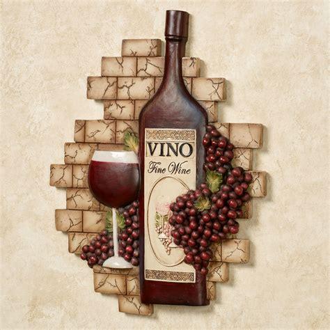 vino italiano wine  grapes wall plaque en  decor