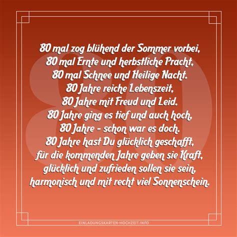Hochzeit 80 Jahre by Einladungskarten 80 Geburtstag Spruche Einladungskarten