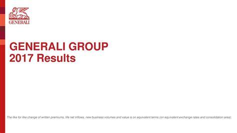 generali spa assicurazioni generali spa adr 2017 q4 results