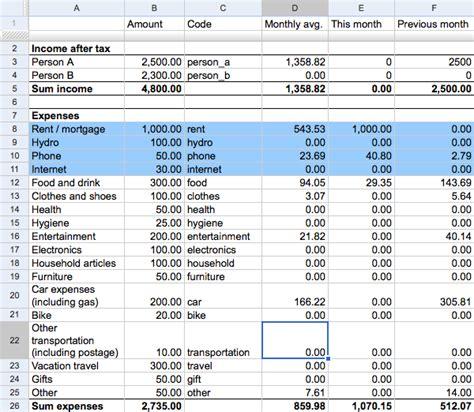 expense template for home a simple household budget expenses tracker g e b w e b