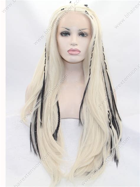 Wig Hair Extension Strike Highlight Hair highlight braided synthetic hair lace front wigs