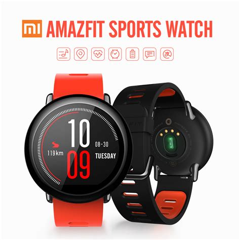 Xiaomi Amazfit Internasional Upversion Smartwatch With Rate Gps xiaomi amazfit sport smart gps real time rate monitor track wristband
