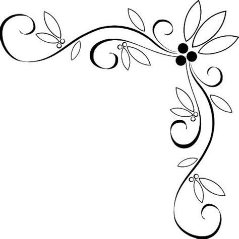 simple pattern border design free page border designs fancy vine corner border