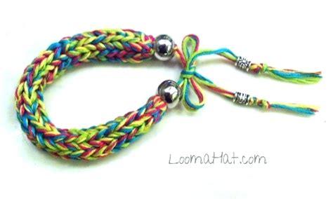 how to knit a friendship bracelet loom knit bracelet loomahat