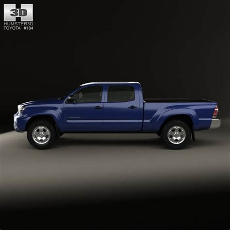 tacoma double cab long bed toyota tacoma double cab long bed 2012 3d model humster3d