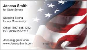 patriotic business cards templates candidate information cards