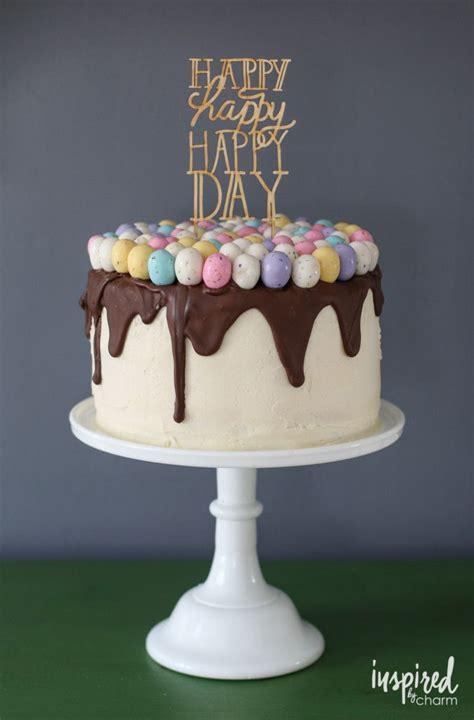 festive spring inspired easter birthday cake   mini easter eggs inspiredbycharmcom