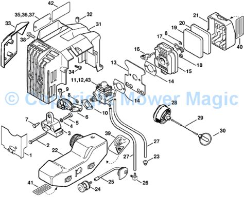 stihl bg 85 parts diagram parts stihl parts