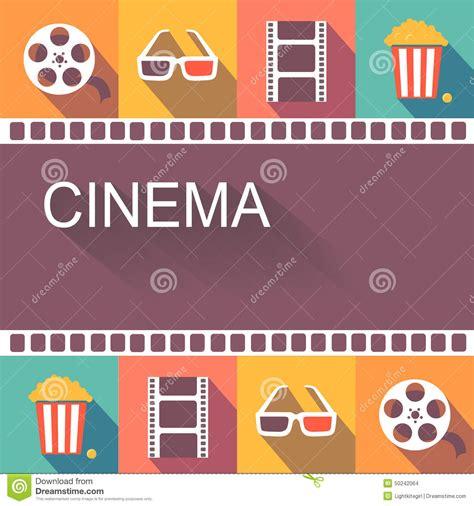 poster design elements vector movie cinema poster and design elements stock vector