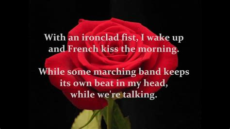 bed of roses lyrics bon jovi bed of roses with lyrics on screen youtube