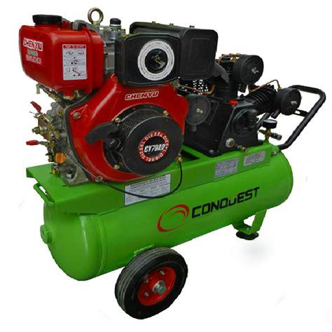 conquest 5 5hp diesel reciprocating air compressor 12 3cfm caps shop