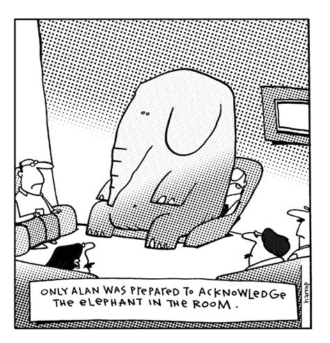elephant in the room meaning the elephant in the room