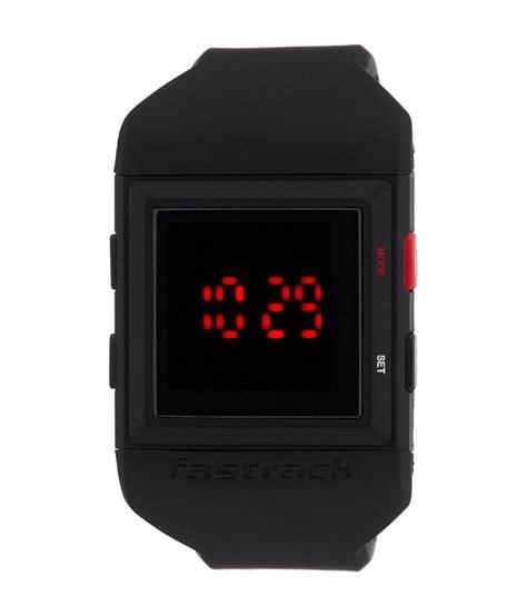 fastrack casual digital black s 38012pp01j
