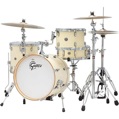 Drum White No Brand 18 gretsch drums club jazz 4 shell pack with