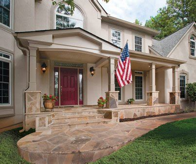 Ranch Style Home Designs front porch builders front portico georgia front porch