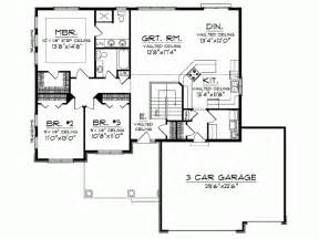 eplans ranch house plan open floor plan 1664 square