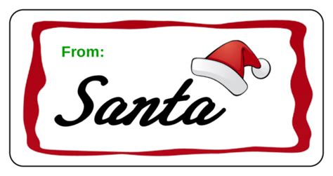 Christmas Address Labels Template New Calendar Template Site Santa Gift Tags Template