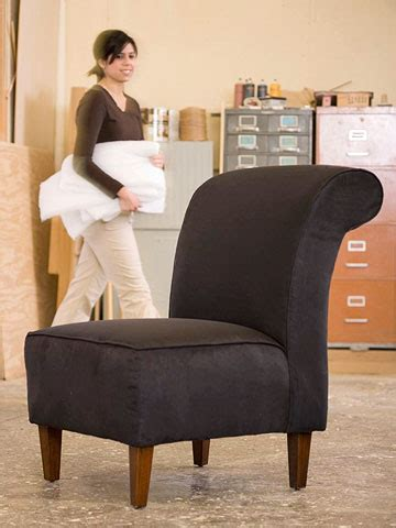 how to upholster a slipper chair diy project bring an chair to by re upholstering